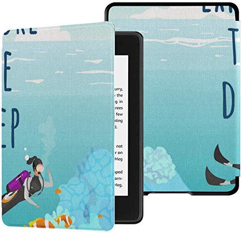 wassersichere Stoffhülle aus Kindle Paperwhite (10. Generation, Version 2018) bietet eine umfassende Social-Media-Post-Mockup-Vektor-Tablet-Hülle