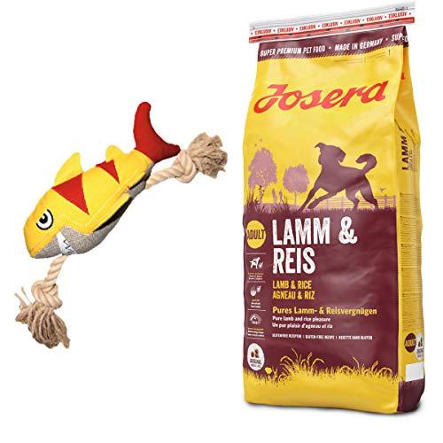 Josera 15 kg Lamm & Reis + Hundespielzeug Hai von Hunter