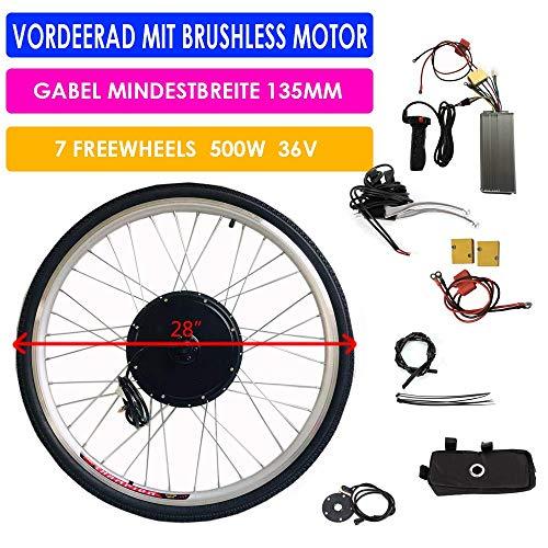 Kit de bicicleta eléctrica de 28 pulgadas Kit de conversión de bicicleta E-Bike Kit de conversión de motor trasero 36V 500W Kit de conversión de bicicleta eléctrica Controlador de rueda trasera