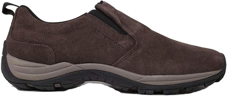 Mens Elasticated Slip On Moc Walking shoes Footwear (11 (46), Brown)