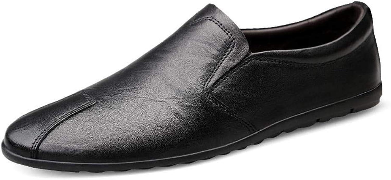 EGS-schuhe Fashian Herren Lazy Freizeitschuhe Set Foot Lok Fu Schuhe,Grille Schuhe (Farbe   Schwarz, Größe   43)