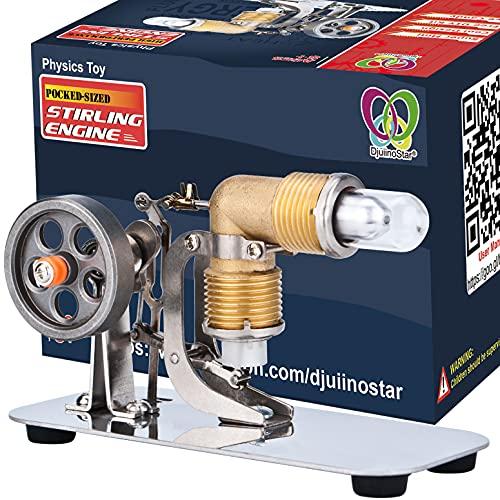 DjuiinoStar Mini Hot Air Stirling Engine: A High Performance Pocket-Sized Working Model