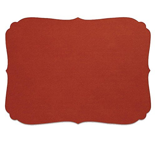 Bodrum EasyCare Presto Curly Paprika Rectangle Placemats (Tablemats) set/6