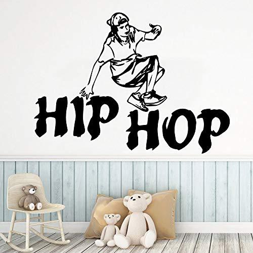 Tianpengyuanshuai Hip Hop Tanz Aufkleber wasserdicht Vinyltapete Hauptdekoration Wohnzimmer Kinderzimmer entfernbares Wandbild 42x57cm