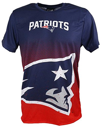 New Era New England Patriots Tee/T Shirt NFL Gradient Tee Navy - S