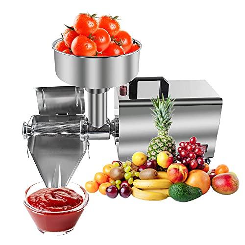 Máquina coladora de tomates comercial, máquina coladora de alimentos y salsas de acero inoxidable, máquina de mermelada exprimidora eléctrica de frutas, perfecta para enlatar purés de tomate, salsas