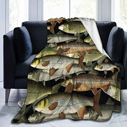 Bernice Winifred Outdoorsman Fishermans Fantasy Pattern Ultra-Soft Micro Fleece Blanket Hecho de Franela Anti-Pilling, más cómoda y cálida. 50x40