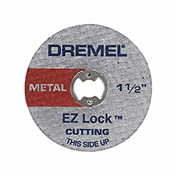 Dremel EZ456B 1 1/2-Inch EZ Lock Rotary Tool Cut-Off Wheels- Rotary Tool Cutting Accessories Perfect for Slicing Sheet Metal and Copper Pipe 12 Pieces