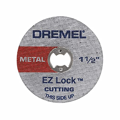 Dremel EZ456B 1 1/2-Inch EZ Lock Rotary Tool Cut-Off Wheels- Rotary Tool Cutting Accessories, Perfect for Slicing Sheet Metal and Copper Pipe, 12 Pieces