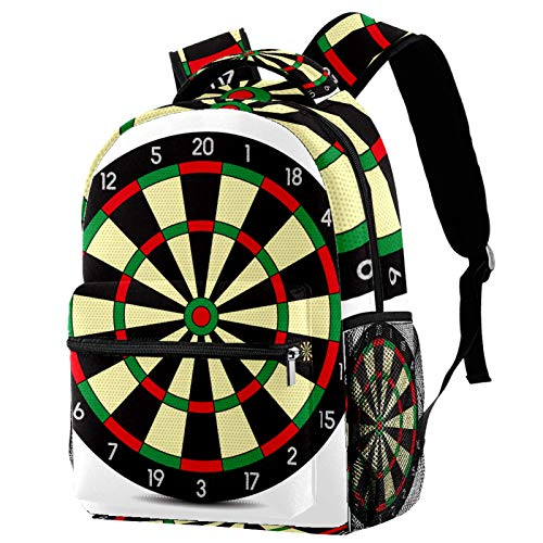Backpack Deportes de Tablero de Dardos Mochila De Ocio para Niñas Mochila Escolar para Adolescentes Mochila Bolso Estampado para Mujer 29.4x20x40cm