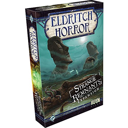 Eldritch Horror Strange Remnants Board Game EXPANSION | Mystery Game | Cooperative Board Game for Adults and Family | Ages 14+ | 1-8 Players | Avg. Playtime 2-4 Hours | Made by Fantasy Flight Games