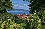YANCONG Puzzles Adultos 1000 Piezas, Paisaje Natural del Lago Maggiore, Italia Rompecabezas De Madera 75X50Cm