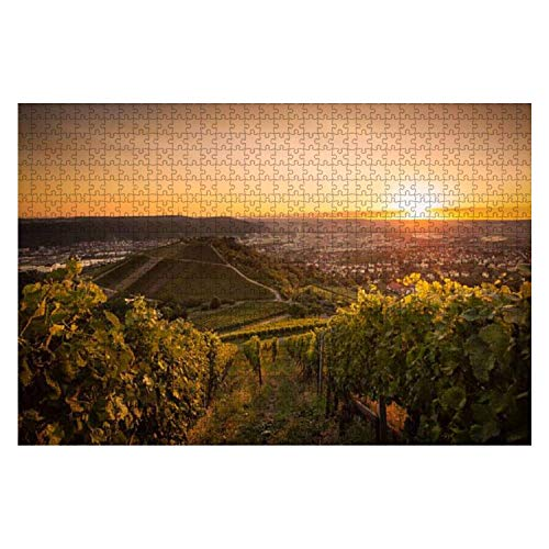 Sunset Vine 1000 Piece Wooden Jigsaw Puzzle DIY Children Educational Puzzles Adult Decompression Gift Creative Games Toys Puzzles Home Decor