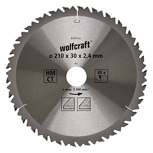 210 mm x 40 T x 25,4 mm, compatible con sierras Evolution Rage Hoja de sierra circular para madera Saxton TCT