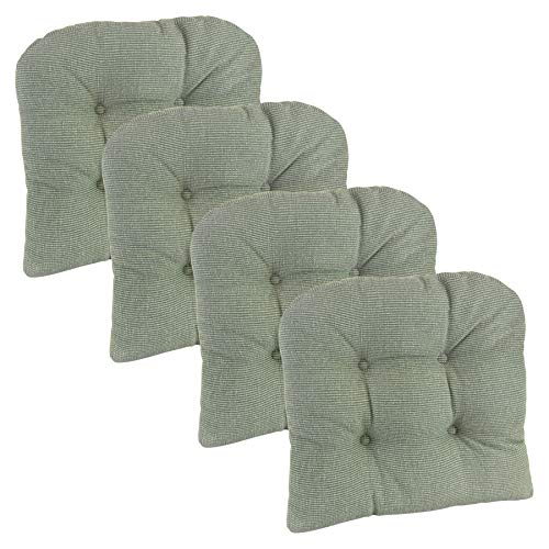 Klear Vu Saturn Non-Slip Tufted Universal Chair Cushions, 4 Pack, Celadon