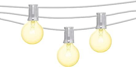 Mr Beams 5W G40 Bulb Incandescent Weatherproof Indoor/Outdoor String Lights, 50 feet, White