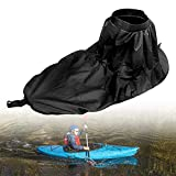 Yosoo Health Gear Jupe de pulvérisation pour Kayak Universelle, Jupe de pulvérisation en Nylon réglable Universelle Housse imperméable Kayak Accessoire Accessoire de Sports Nautiques(Black)