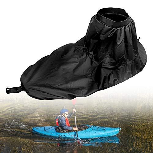 Yosoo Kajak-Sprührock Universal, Universal Verstellbarer Nylon-Kajak-Sprührock wasserdichte Abdeckung Kajak-Zubehör Wassersport-Zubehör(Schwarz)