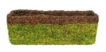Super Moss  29356  MossWeave Window Box Planter Fresh Green with Wicker Rim 24