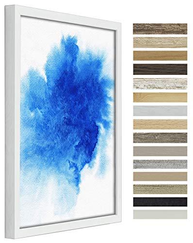 myposterframe Britannica Rahmen für Leinwandbild 30 x 45 cm Canvas Bilderrahmen Birke Weiß ohne Verglasung