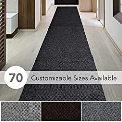 CHOOSE YOUR WIDTH (3FT, 4FT AND 6FT WIDTHS) AND CUSTOM LENGTH - Great for hallway, entranceway, vestibule, deck, outdoor stairs, boats and more EXTREMELY STAIN RESISTANT - Made from polyester and polypropylene fibers suitable for commercial and resid...