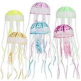 Nuluxi Leuchtende Quallen Aquariumdekoration Jellyfish Aquarium Dekoration Glowing-Effekt Aquarium Dekoration Realistisch und Süß Quallen Künstliche Glowing-Effekt Fish Tank Zubehör Ornamente-6 Farben