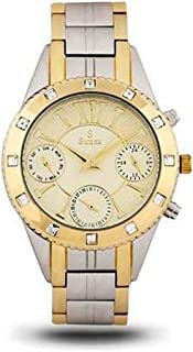 Sunex Women's Watch Analog Stainless Steel Teton Gold Dial S6504TG