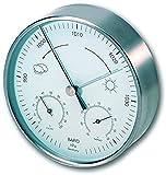 TFA Dostmann Analoge Wetterstation, für innen und außen, Barometer, Thermometer, Hygrometer, wetterfest