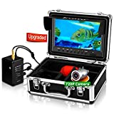 Eyoyo Underwater Fishing Camera, Ice Fishing Camera Video Fish Finder Upgraded 720P Camera 12 IR Lights with 1024x600 9 inch Screen for Ice, Lake, Boat, Sea Fishing (15m)