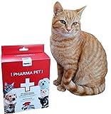 Pharma+ Kit Primo Soccorso Cani/Kit Pronto Soccorso Gatti Animali Domestici/Trekking/Passeggiata/Kit Primo Soccorso Borsa/Emergenza/Completo/da Viaggio/da Montagna/per la casa/tascabili/Mini