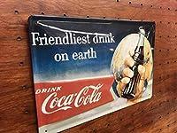 コカコーラ Friendliest Drink Coca-Cola エンボス ブリキ 看板 ドイツ製