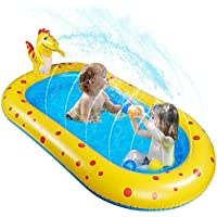 kemooie 3 in 1 Dinosaur Inflatable Baby Swimming Pool with Sprinkler (67 Inches ?41 Inches ?26 Inches)
