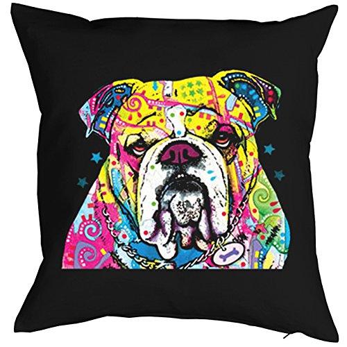The Bulldog Pillow, oreiller, almohada, Cuscino Pop Art Style