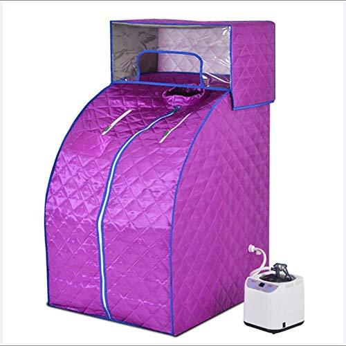 TUTOU Sauna Infrarot, Faltbare Detox Easy to Carryhome, Dampfsauna Spa Gewichtsverlust Hautpflege Abnehmen
