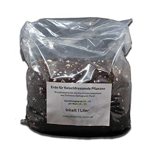 generisch 2,5 Liter Karnivorenerde - Substrat für fleischfressende Pflanzen aus Torf