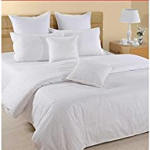 White Queen Size 240 x 260 cm Hotel Linen Bedding Set - 3 Pieces