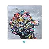 Jsnzff Graffiti Kunst Faust Malerei auf Leinwand Poster