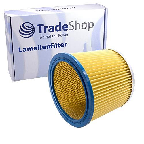 Ersatz Lamellenfilter / Dauerfilter / Rundfilter für viele Staubsauger wie Kärcher NT221 Rowenta RU03 Parkside PNTS 1250 Nasssauger Trockensauger