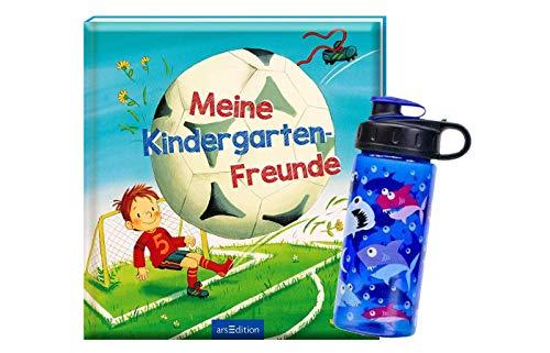 Ars Edition Meine Kindergarten-Freunde (Fußball) + 1. Coole Trinkflasche, ideal für den Kindergarten-Start