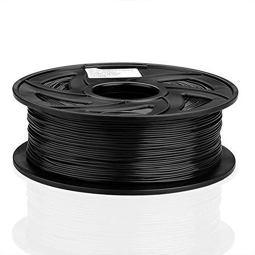 S SIENOC 1Kg PLA 1,75mm 3D Printer Filamento Spool 3D Materiale di stampa per stampanti (PLA Nero)