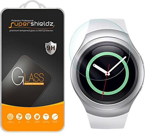 Supershieldz for Samsung Gear S2 Tempered Glass Screen Protector, Anti Scratch, Bubble Free