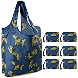 Reusable-Groceries-Bags Shopping Bags Foldable Cute Animal Reusable Gift Bags Ripstop Nylon Large Capacity