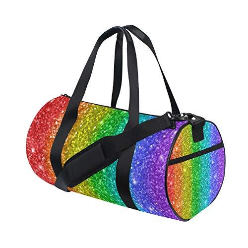 Ahomy - Bolsa de deporte para gimnasio, diseño de arcoíris multicolor