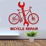 yaoxingfu Fahrradreparaturservice Schraubenschlüssel Tool Bike Shop Wandaufkleber Vinyl Wohnkultur...