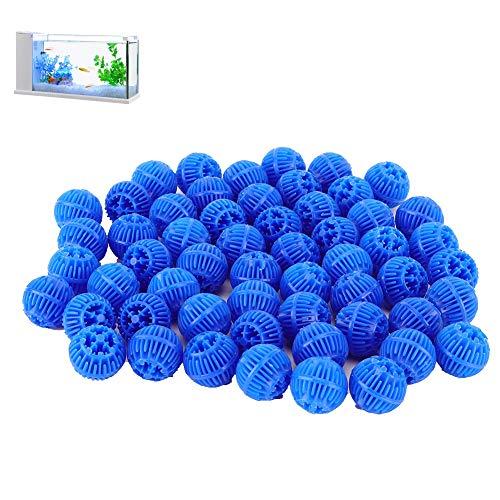 Tnfeeon Bio Balls Filter Media, Aquarium Filter Bio Ball 500ml Reusable Freshwater Seawater for Aquarium and Pond Filter Media