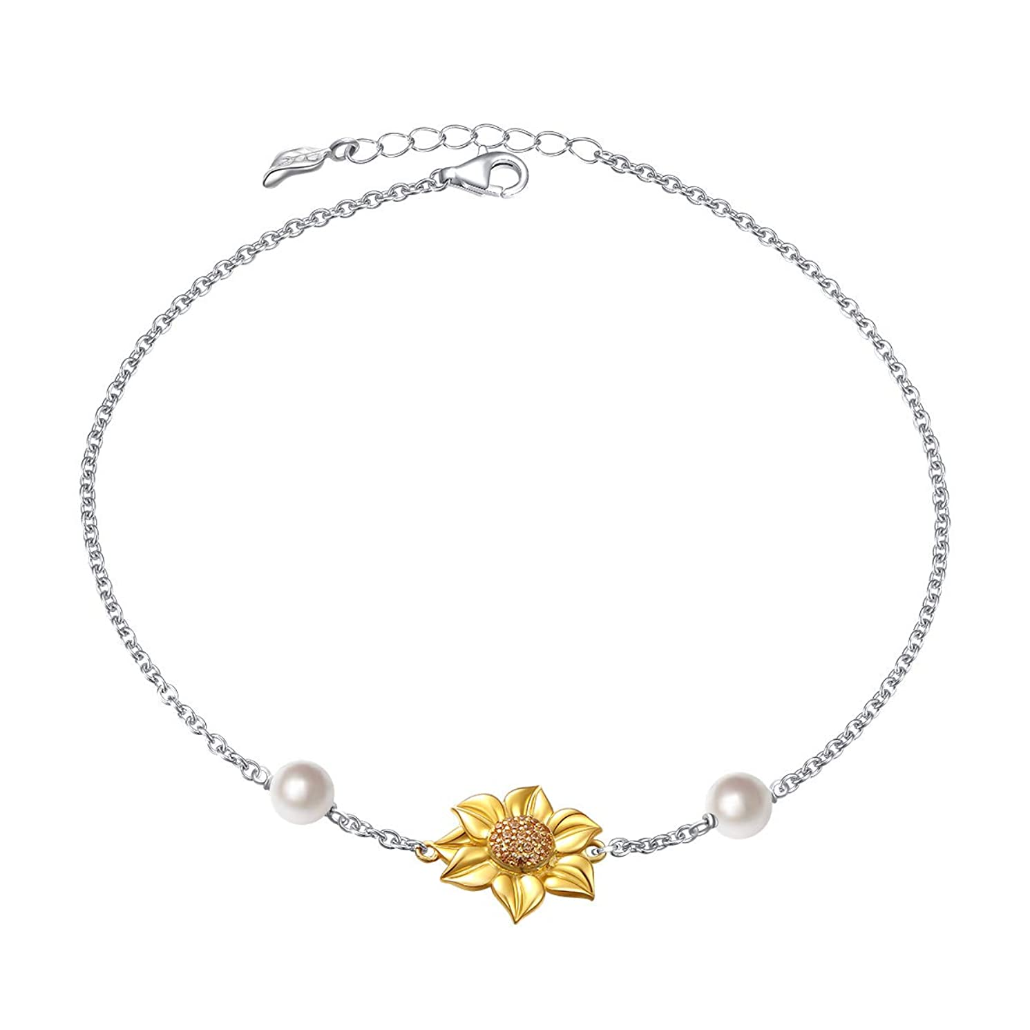 You Are My Sunshine Sunflower Gold Plated S925 Sterling Silver Pendant Necklace Earrings Ring Bracelet Anklet