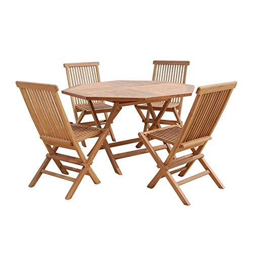 Pons Collection Piegare. Sedia (4) e tavolo ottagonale