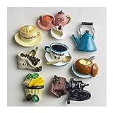 SunnyLou Lmanes de refrigerador 2 unids decoración nórdica para el hogar en 3D Comida macarrona café frigorífico Pasta magnético Pastel de café Kettle frangorro imán colección Regalos (Color : 2)