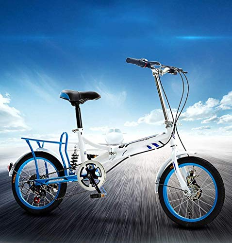 Bicicleta plegable para hombres y mujeres, bicicleta plegable en 15 segundos, marco aerodinámico de 16 pulgadas, bicicleta plegable de ciudad para Urban Commuter Cruiser Bike-D_16 pulgadas