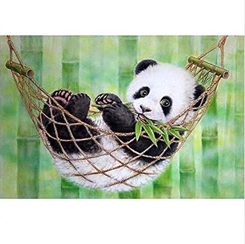 JFZJFZ DIY digitaal schilderen op cijfers pakket slaapzak Panda olieverfschilderij Mural Kits kleur muurkunst afbeelding gift frameloos 40x50cm
